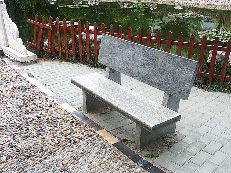 河北長形石椅子