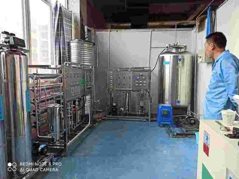 制藥廠雙級反滲透+EDI超純水設備