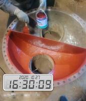 螺杆机进出水端盖维修